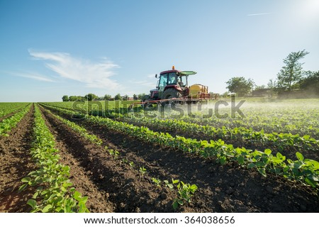 Shutterstock Farmer spraying soybean field with pesticides and herbicides