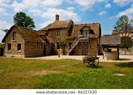 Farmhouse at Marie Antoinette's hamlet at Versailles, France