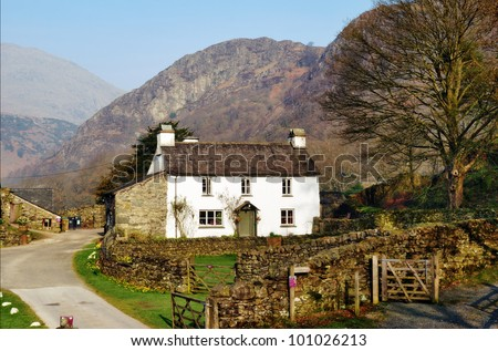 Farmhouse cottage on Yew Tree Farm in the English Lake District was once the home of Beatrix Potter who bequeathed it to the National Trust in her will