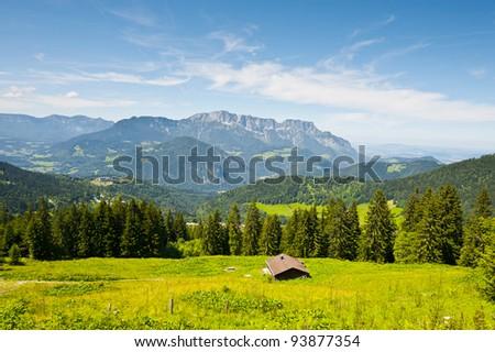 Farmhouse in the Bavarian Alps, Germany