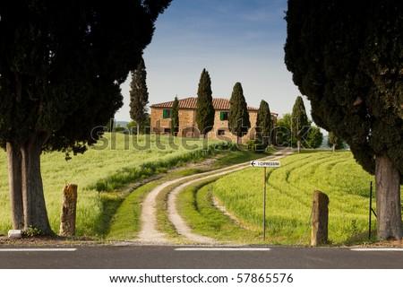 Farmhouse in Tuscany near Pienza, Italy