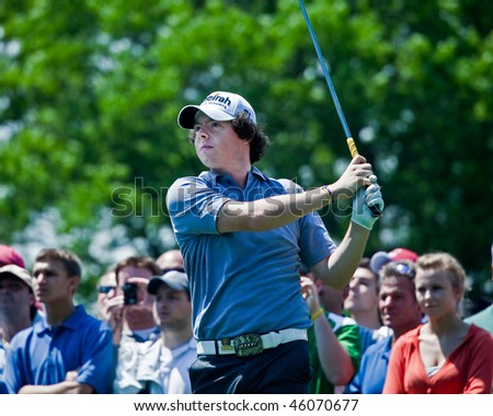 FARMINGDALE, NY - JUNE 15: Irishman Rory McIlroy at the 2009 US Open on June 15, 2009 in Farmingdale, NY. Rory is one of the world's most exciting young golfers. He quit school at age 16 to turn pro.