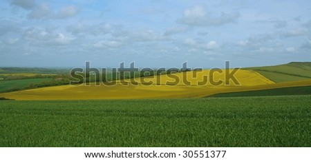 Farmland in Sussex, UK
