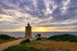 Faro de Camarinal - 16th-century lighthouse constructed on a beacon tower with a spiral staircase  views. Located in the Spanish municipality of Tarifa