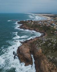 Farol de Santa Marta Shore, at Laguna, Santa Catarina, South America, Brazil