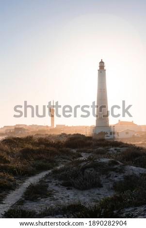 Farol Santa Maria;Cabo de Santa Maria in the Farol Islands in Portugal during sunset Foto stock ©
