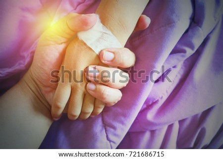 farther and son , hold one's hands #721686715