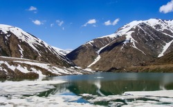 Fascinating view of the (LULUSAR) lake in the (Kaghan) valley
