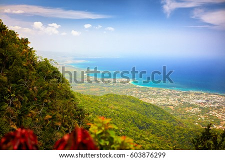 Shutterstock fascinating view on Puerto Plata city and Atlantic ocean from the top of Pico Isabel de Torres, Dominican Republic