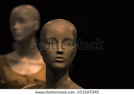 fashion and beauty, shopping, no makeup, business, partnership and team work, ai, robotic technology, plastic and artificial model, mannequin ストックフォト ©
