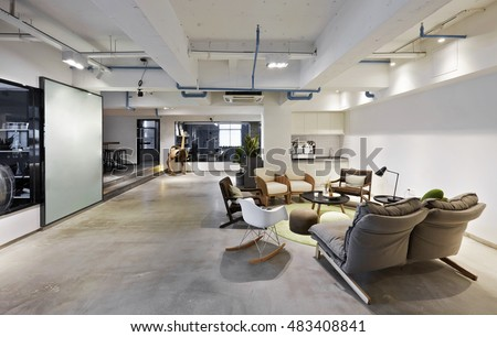 Fashion and modern office interiors #483408841
