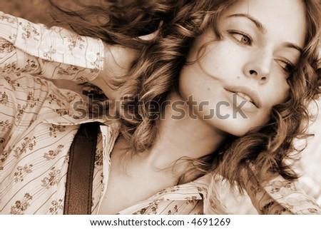 Fashion art photo. Portrait of beautiful woman