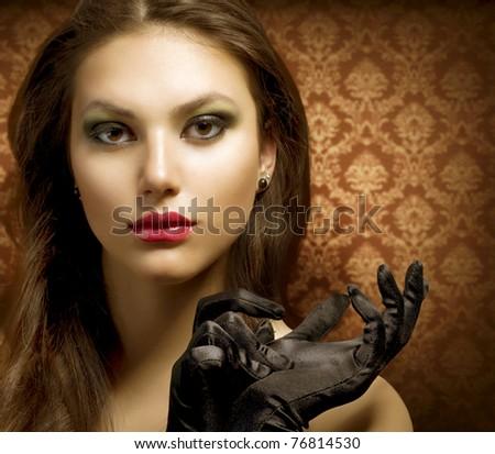 Fashion Art Portrait. Beautiful Woman