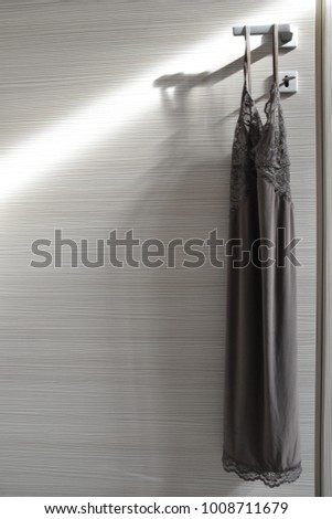 fashion babydoll on illuminated door