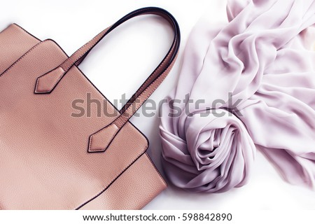 Fashion Bag and Scarf Isolated