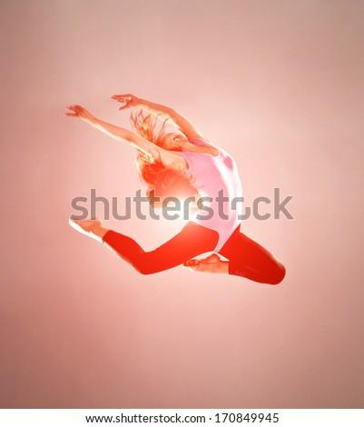 fashion ballet dancer. studio shot