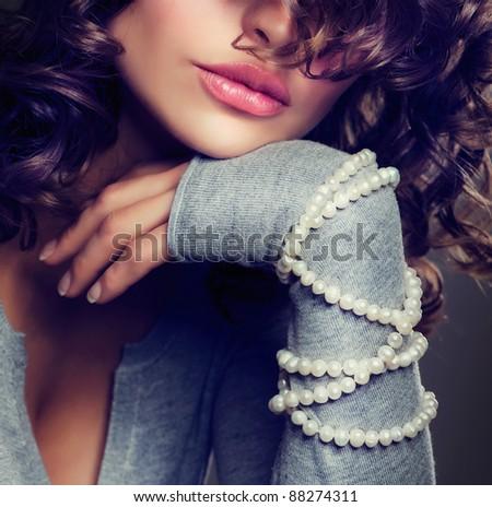 Fashion Beauty Portrait. Sexy Woman.