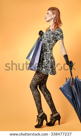 fashion beauty sexy woman with...