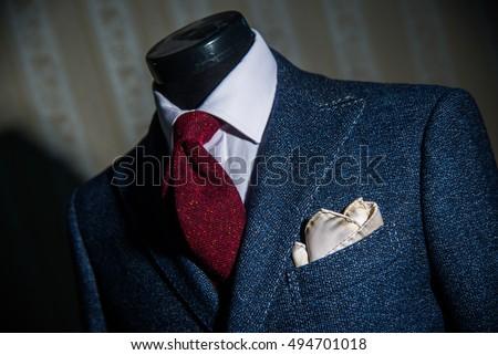 Fashion, Bespoke suit detail