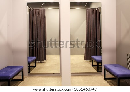 fashion boutique interior, fitting room