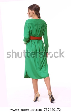 Free Photos Back View Of A Girl In A Dress With A Red Belt Avopix