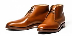 Fashion classical men's brown shoes. Selective focus
