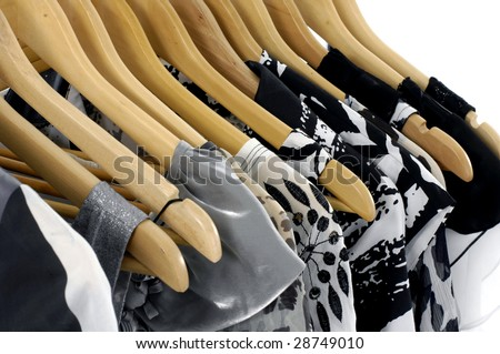 Fashion clothes hangers on a hanger