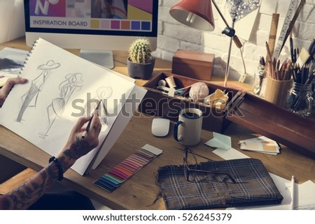 Fashion Clothing Design Drawing concept #526245379