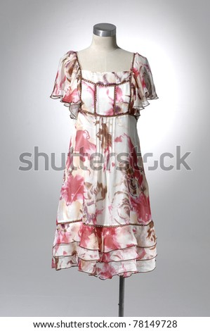 Fashion clothing on mannequin in light background