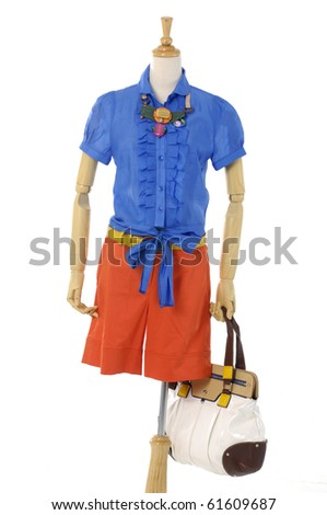 Fashion clothing on mannequin, isolated
