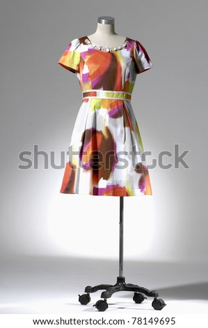 Fashion clothing on mannequin isolated