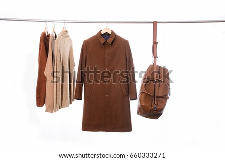 fashion coat with sweater...