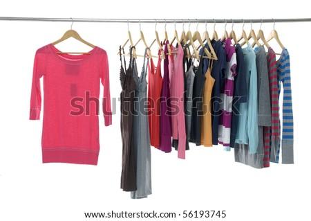 Fashion colorful shirt rack