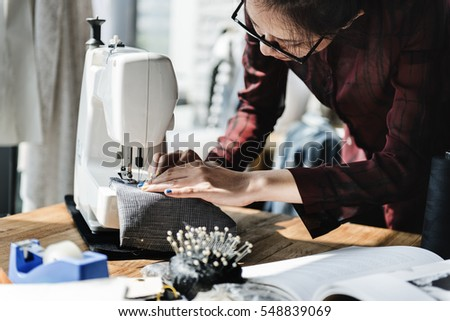 Fashion Design Sewing Machine Concept