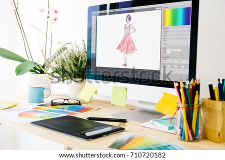 fashion design studio - Shutterstock ID 710720182