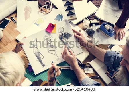 Fashion Designer Sketch Drawing Costume  #523410433