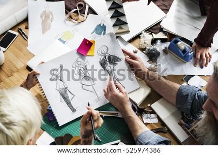 Fashion Designer Sketch Drawing Costume Concept
