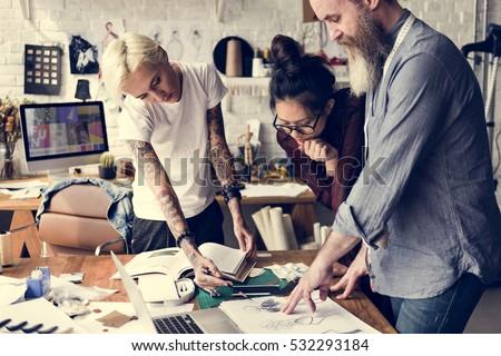 Fashion Designer Sketch Drawing Costume Concept #532293184