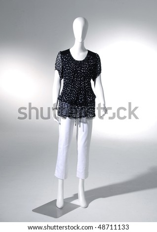 fashion dress on mannequin isolated