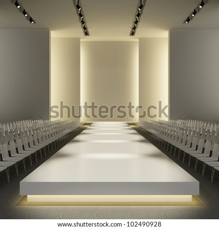 stock photo : fashion empty runway