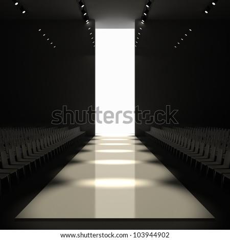 fashion empty runway 3d