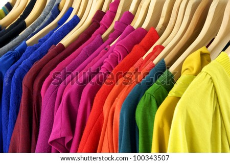 fashion female colorful clothing texture background