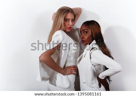 Fashion girls. Fashion photo. Sensual. People. Business dress.