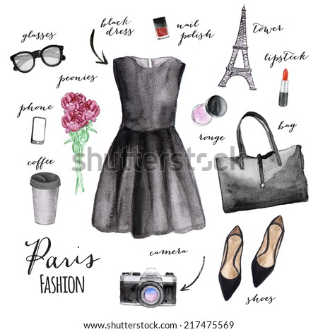 Fashion illustration. Paris style.