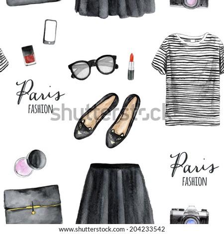 Fashion illustration pattern