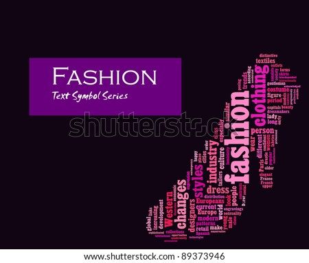Fashion Info Text Composed In The Shape Of High Heel Shoe