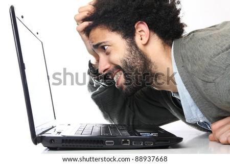 fashion man and a laptop