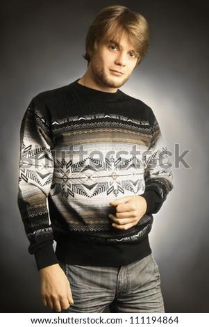 Fashion man. Handsome man young portrait