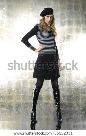 stock-photo-fashion-model-in-autumn-winter-clothes-posing-in-the ...