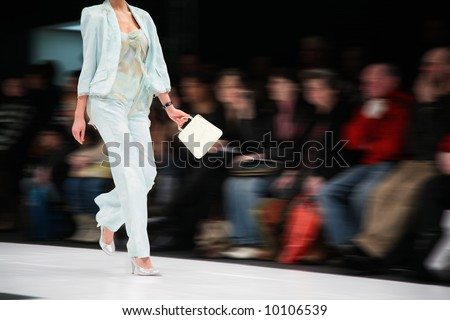 fashion model on podium